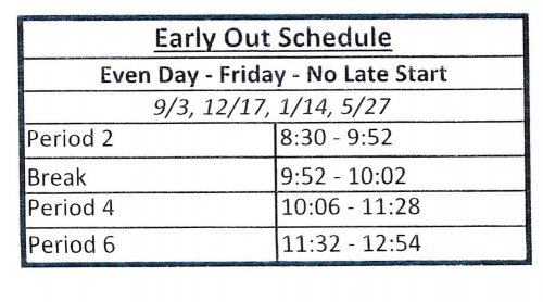 early out schedule