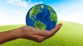 earth in a person's hand
