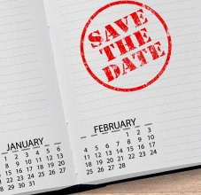 save the date stamp on calendar